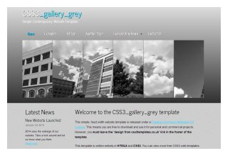 CSS3 gallery grey
